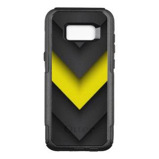 Black & Yellow Chevron Pattern Design OtterBox Commuter Samsung Galaxy S8+ Case