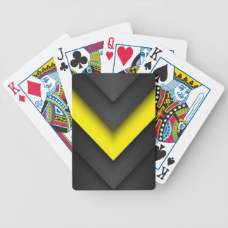Black & Yellow Chevron Pattern Print Design Bicycle Playing Cards