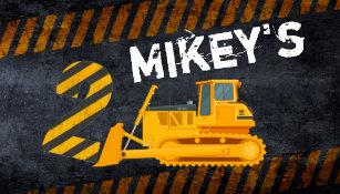 Black Yellow Construction Vehicle