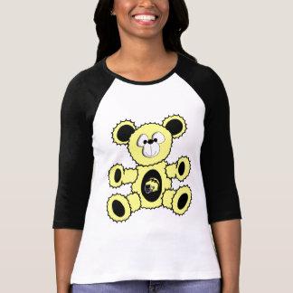 Black/Yellow Football Bear T-Shirt