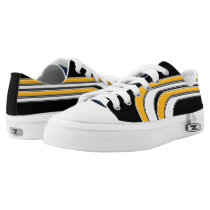 Black Yellow-Gold and White Sojourn Max Low-Top Sneakers