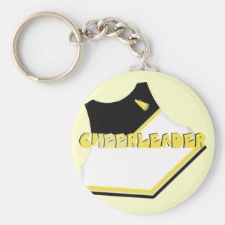 Black Yellow Gold Cheerleader Keychain