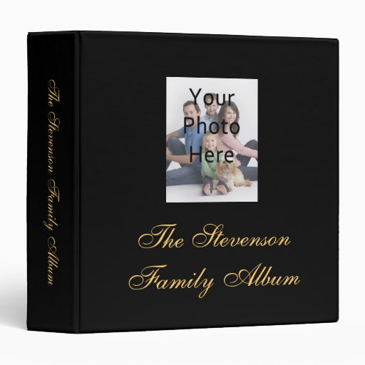 Black/Yellow-Gold Personalized Photo Album Binder