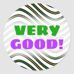 [ Thumbnail: Black, Yellow & Green Wavy Lines Pattern Sticker ]