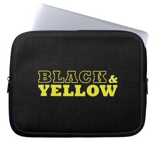 """Black & Yellow Laptop Bag [starting from 10""""] Computer Sleeves"""