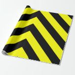 [ Thumbnail: Black & Yellow Lines Pattern Wrapping Paper ]