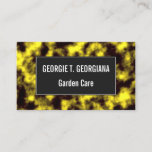 [ Thumbnail: Black & Yellow Misty/Hazy/Cloudy/Foggy Pattern Card ]