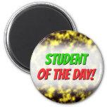 [ Thumbnail: Black & Yellow Misty/Hazy/Cloudy/Foggy Pattern Magnet ]
