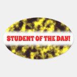 [ Thumbnail: Black & Yellow Misty/Hazy/Cloudy/Foggy Pattern Sticker ]