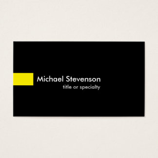 Black Yellow Modern Unique Consultant Business Card