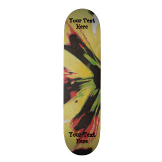 black yellow original modern abstract art design skateboard deck