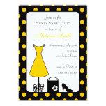 black & yellow polka dot bachelorette party custom announcement