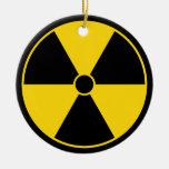 Black & Yellow Radiation Symbol Ornament