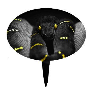 Black Yellow Snake Cake Topper
