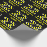 """[ Thumbnail: Black & Yellow Striped """"22""""; 22nd Birthday + Name Wrapping Paper ]"""