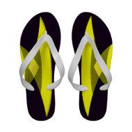 Black Yellow Summer Flip Flops