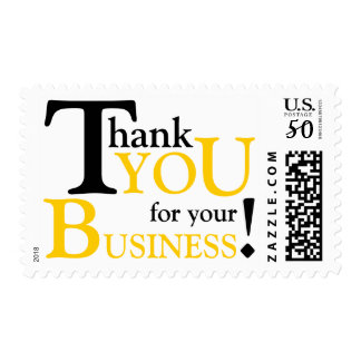 """Black & Yellow """"Thank you for your Business"""" Postage"""