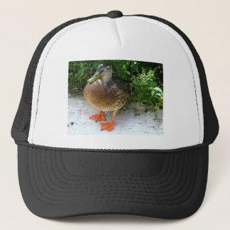 Black & Yellow toned Bird with Orange Feet Trucker Hat