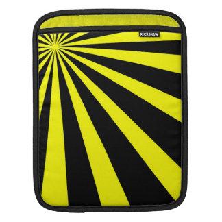 Black & Yellow Vortex iPad Sleeve