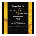 Black yellow wedding engagement PERSONALIZE Custom Invitations