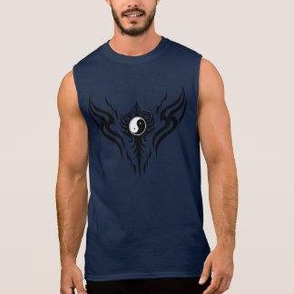 Black Yin Yang Tribal 3 Sleeveless Shirt