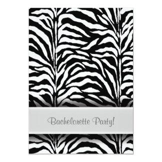 Black Zebra Bachelorette Party Invitations