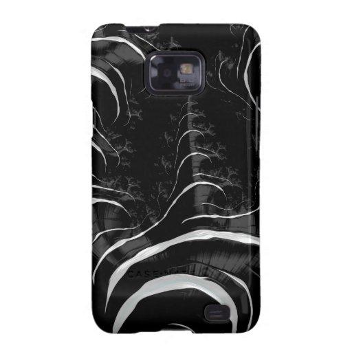 Black Zebra Glossy Fractal Art Samsung Galaxy SII Cases