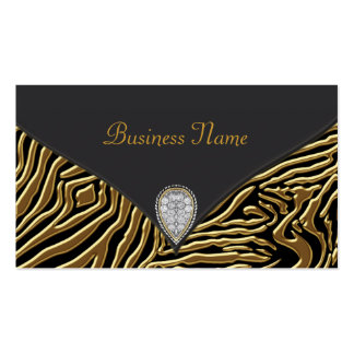 Black Zebra Gold Black Zebra Business Card