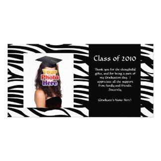 Black Zebra Graduation Thank You or Announcement Photo Card