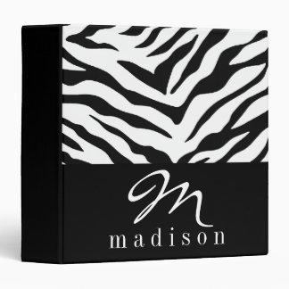 Black Zebra Print Binder