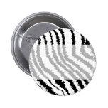 Black Zebra Print Pattern. 2 Inch Round Button
