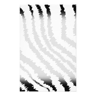 "Black Zebra Print Pattern. 5.5"" X 8.5"" Flyer"