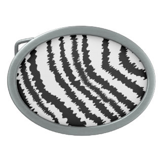 Black Zebra Print Pattern. Belt Buckles