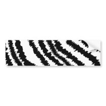 Black Zebra Print Pattern. Bumper Sticker