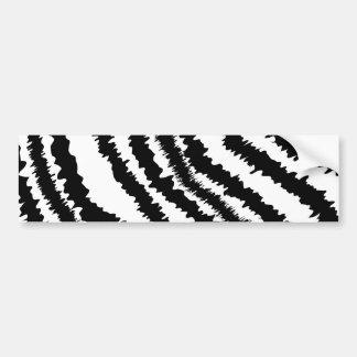 Black Zebra Print Pattern. Bumper Sticker
