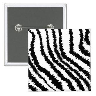 Black Zebra Print Pattern Pinback Buttons