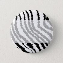 Black Zebra Print Pattern. Button