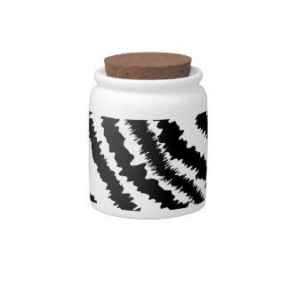 Black Zebra Print Pattern Candy Dish
