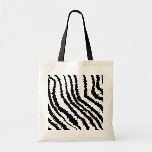Black Zebra Print Pattern. Canvas Bag