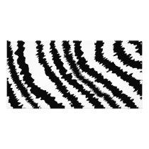 Black Zebra Print Pattern. Card