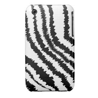 Black Zebra Print Pattern Case-Mate iPhone 3 Case