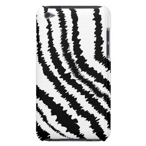 Black Zebra Print Pattern. Barely There iPod Covers