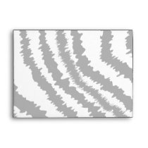 Black Zebra Print Pattern. Envelope