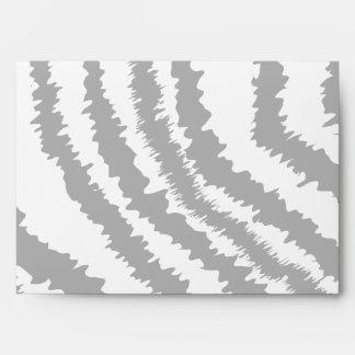 Black Zebra Print Pattern. Envelope