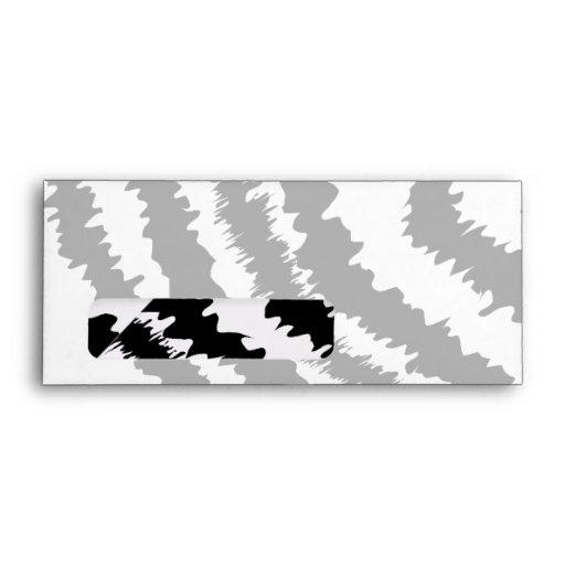 Black Zebra Print Pattern. Envelopes