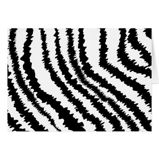 Black Zebra Print Pattern. Greeting Card