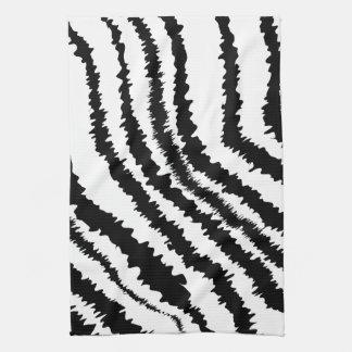 Black Zebra Print Pattern. Hand Towel