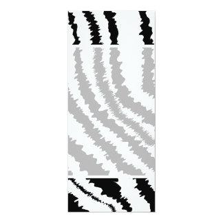 Black Zebra Print Pattern. Personalized Invite