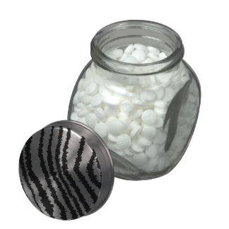 Black Zebra Print Pattern. Jelly Belly Candy Jar