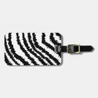 Black Zebra Print Pattern. Luggage Tag